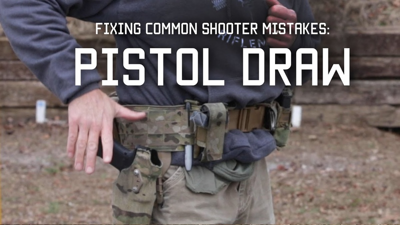 Fixing Common Shooter Mistakes Pistol Draw Tactical Rifleman