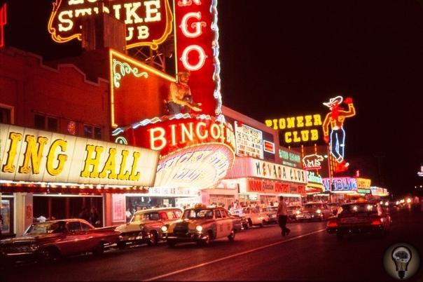 Лас-Вегас на фото 1955 года. часть 1Несколько фактов о Лас-Вегасе: В канализации города сейчас живет около тысячи человек. Это бомжи, многие из которых просто проигравшиеся в пух игроки. Хотя по