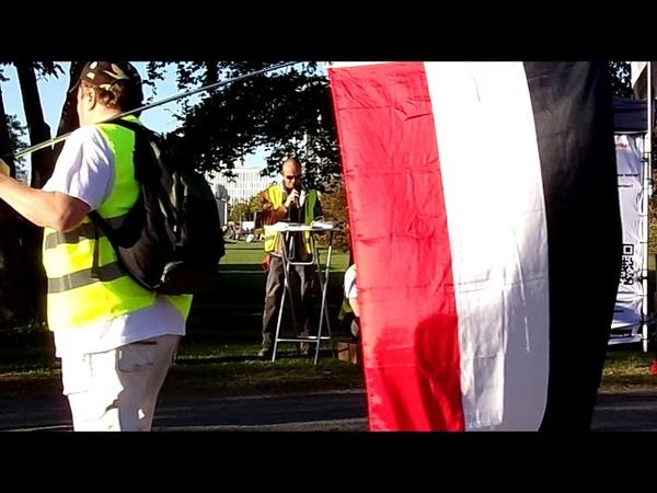 Gelbe Westen Demo vor dem Berlin - Pavillon, 21.9.19. II