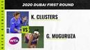 Kim Clijsters vs Garbiñe Muguruza 2020 Dubai First Round WTA Highlights