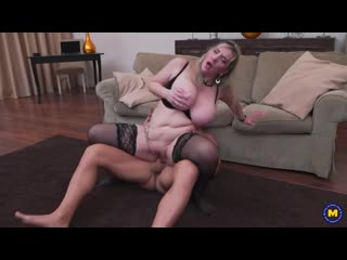 German older lady with big breasts gets a steamy creampie after fucking and sucking her lover