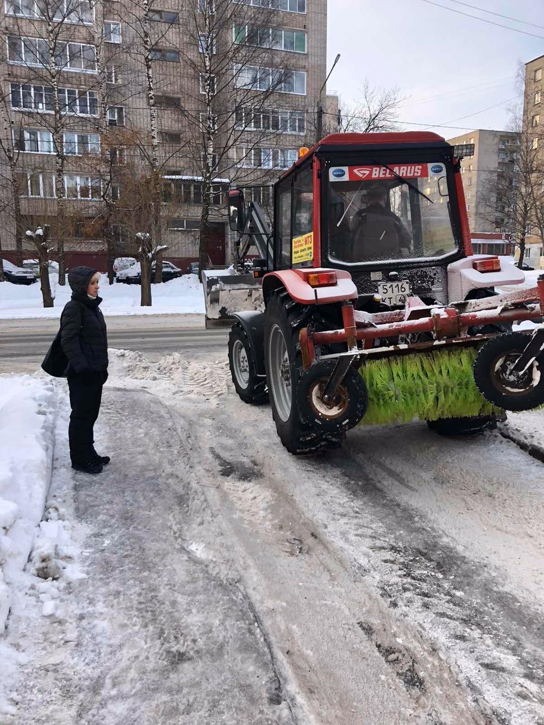 Механизированная уборка улица Кольцова дом 13 и