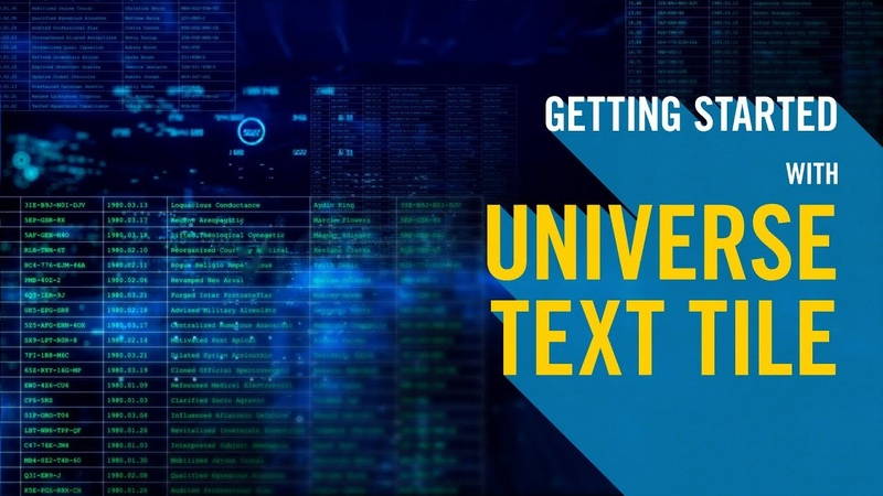 Getting Started with Universe Text Tile
