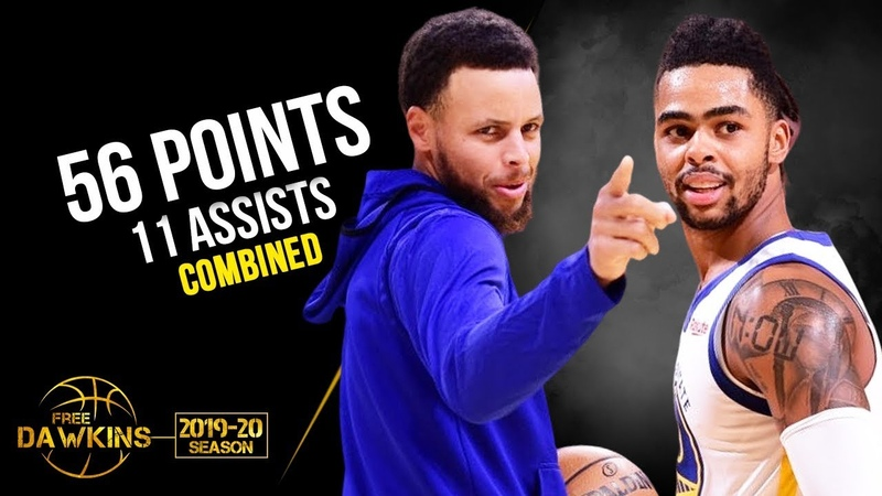 Stephen Curry x D'Angelo Russell Combine For 56 Pts 11 Asts vs TWolves October 10 2019