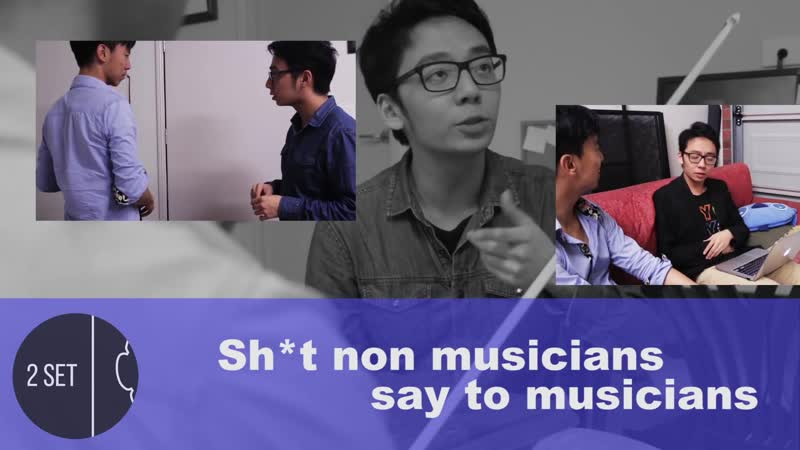 [RUS SUB] SH*T NON MUSICIANS SAY TO MUSICIANS - TwoSetViolin