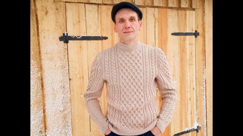 Мужской свитер спицамиПодробный МКЧАСТЬ ТРЕТЬЯПередплечевые швы