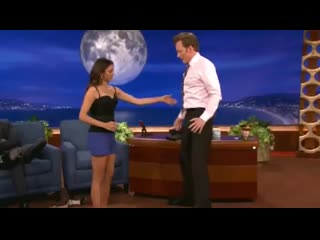 Conan gets the scorpion from nina dobrev.
