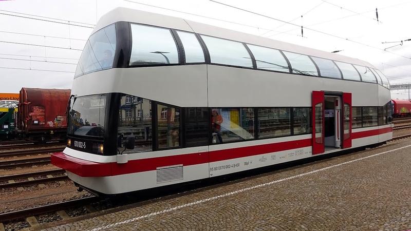 Mit Alma 670 002-5 von Chemnitz nach Gera mit Straßenbahnrundfahrt 2020-02-29