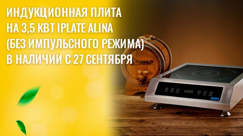 Индукционная плита на 3,5 кВт Iplate Alina(без импульсного режима) в наличии с 27 сентября