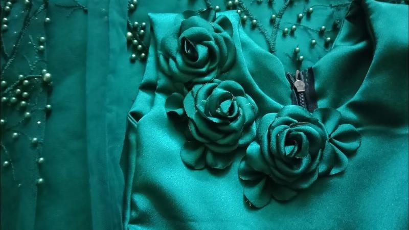 Fabric flowers making tutorial... Malayalam..