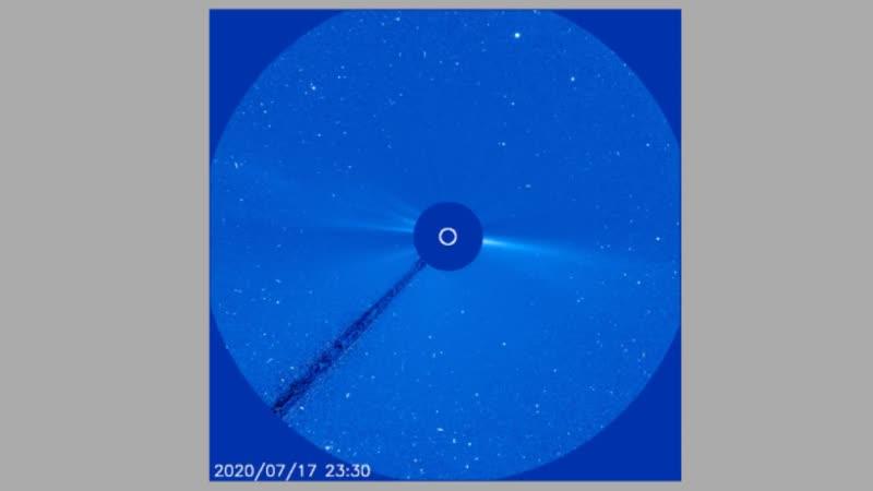 Солнечная активность с 17 по 30 июля 2020 года. LASCO С3 LASCO С2