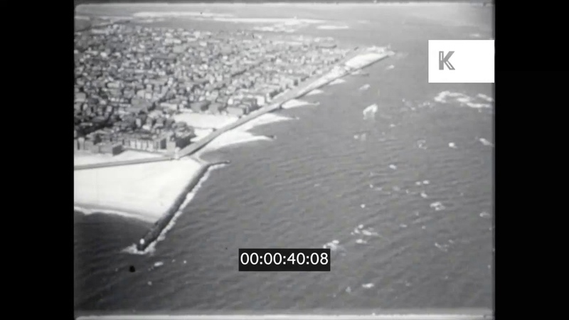 1940s 1950s USA Atlantic City Aerials Jersey Shore 16mm