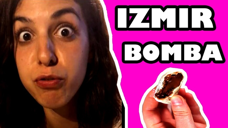 First Time Foreigners Trying Nutella Chocolate Lava Cookie Izmir Bomba