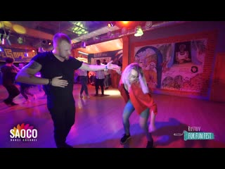 Andrey Bryukhovskikh and Kristina Bolbat Salsa Dancing at Rostov For Fun Fest (Russia),Monday  (SC)