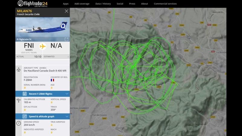 2020 05 12 Avion dépandage Chemtrails chopé sur Flightradar24 Conséquence sur mon ciel propre