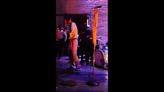 White boy drops sick beat on stage