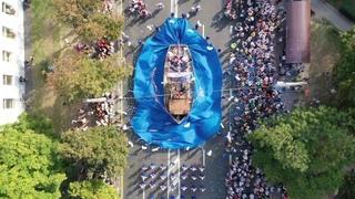 Яркий карнавал 1000-летнего Бреста вид сверху . mavic2 pro
