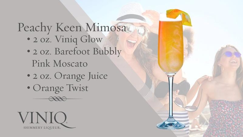 Viniq Shimmery Liqueur Cocktails Peachy Keen Mimosa