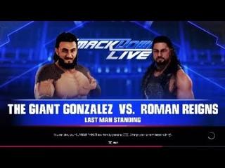 Giant Gonzalez vs. Roman Reigns