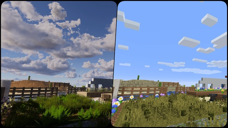 Minecraft 2020 4K Extreme Reallife Graphics Continuum 2 1 DD's Texture Pack vs Vanilla