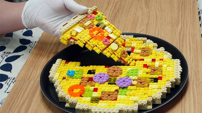 Lego Pizza Lego In Real Life Stop Motion Cooking & ASMR