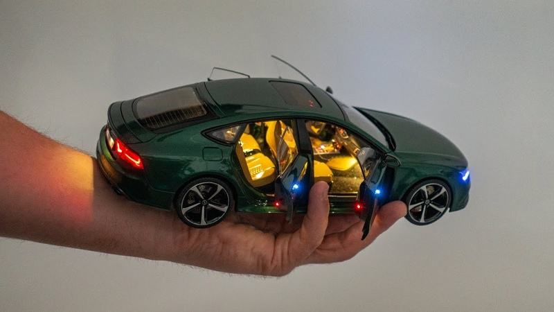 A truly amazing AUDI RS7 Customized Diecast Review 1 18 A7 Quattro Full Light Package