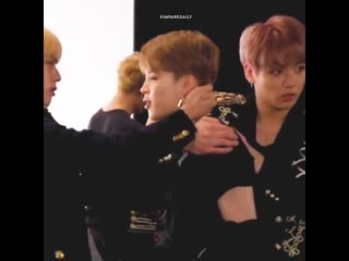 """"""" the youngest isn't doing his job as the youngest so i'm doing it for him. i'm jimin. """""""
