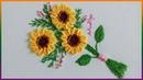 Hand Embroidery Buttonhole Bar Sunflowers Bordado a Mano Girasoles en Puntada Barra de Ojal