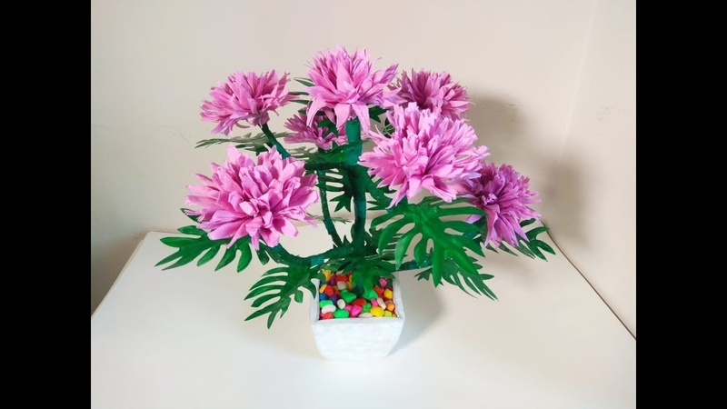 How To Make Marigold Flower Tree With Plastic Bottle and Tissue Paper ||Room Decoration Idea.