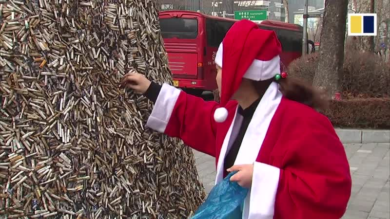 Рождественская ёлочка из сигаретных фильтров