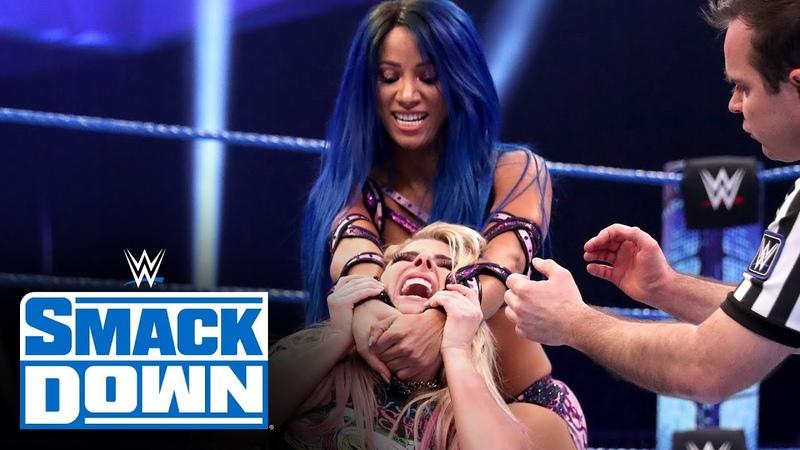 Video@alexablissdaily Alexa Bliss Nikki Cross vs Bayley Sasha Banks SmackDown March 13 2020