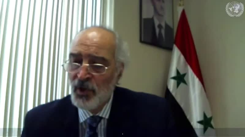 H E Dr Bashar Jaafari at the Security Council Humaniterian Breifing