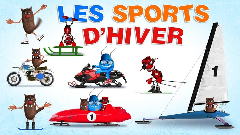 Foufou Les Sports D'hiver Learn winter sports for kids Serie 01 4K
