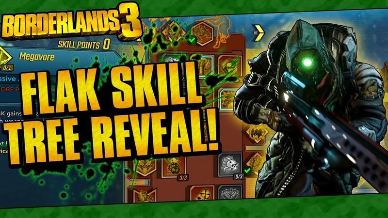 Borderlands 3 | Flak The Beastmaster Full In-Game Skill Tree Reveal!
