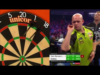 Michael van Gerwen vs Chris Dobey (PDC World Grand Prix 2019 / Semi Final)