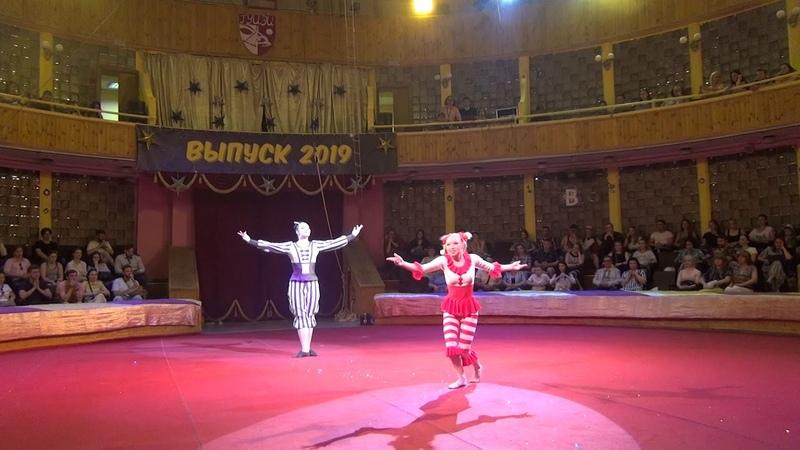 Акробатическая пара Корчагина Дарья и Логвинова Рита.Выпуск ГУЦЭИ 2019 год