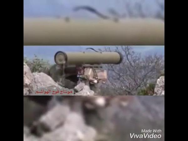 SYRIAN ARMY'S ATGM TEAM STRIKE TERRORISTS IN NORTHERN LATAKIA MOUNTAINS 🇸🇾✌