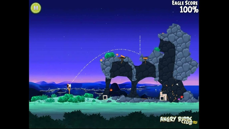 Mighty Eagle 100% Angry Birds Rio Rocket Rumble 5 Прохождение Могучий Орёл 100%