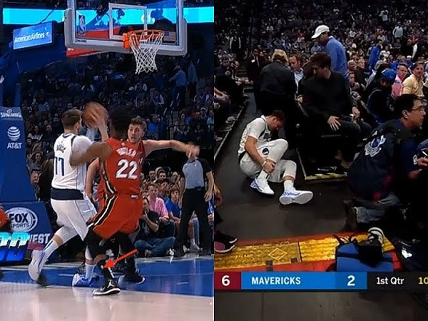 Luka Doncic In Tears After Scary Ankle Injury VS Heat I'm F*cking Done Man!