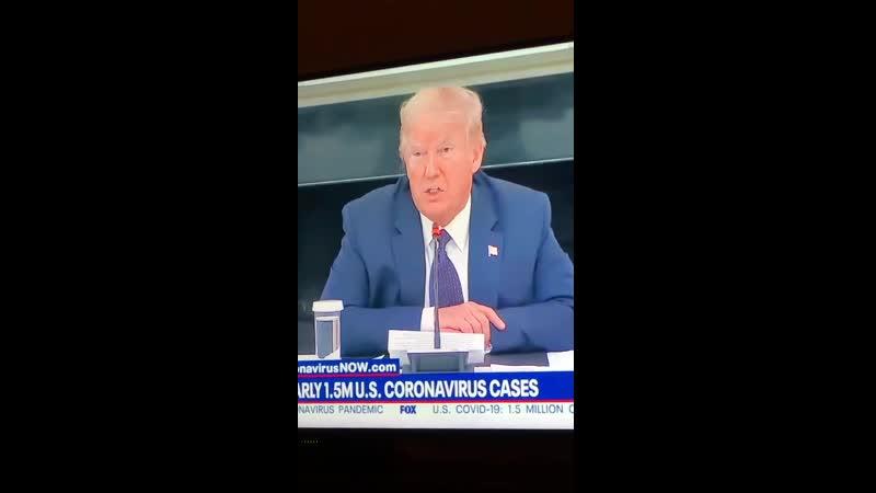 Trump bezeichnet die Coronakrise ganz offen vor der Weltpresse als artificial event das den USA zu neuer Kraft verhilft