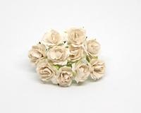 Кудрявые розы 2 см - Белые 5шт - 38руб  Диаметр 2 см высота 1,5 см длина стебля 6 см
