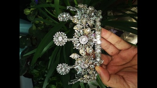 How to make wedding crystal crown - DIY (5)