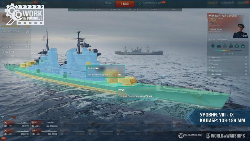 Тестирование концепции, обшивка крейсеров и инерционный взрыватель для VIII-X уровней, второй этап теста, изображение №3