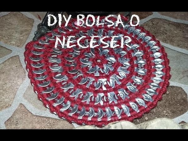 👜Cómo hacer un bolso o neceser a crochet reciclando anillas de refresco paso a paso tutorial