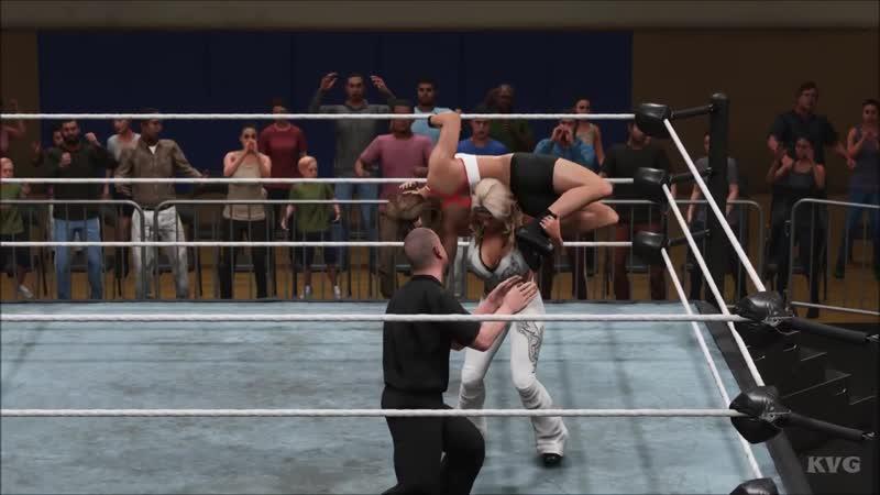 WWE 2K19 - Beth Phoenix vs Ronda Rousey - Gameplay (PC HD) [1080p60FPS]
