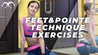 Maria Khoreva Ballet under quarantine. Feet and pointe technique exercises. Vaganova method