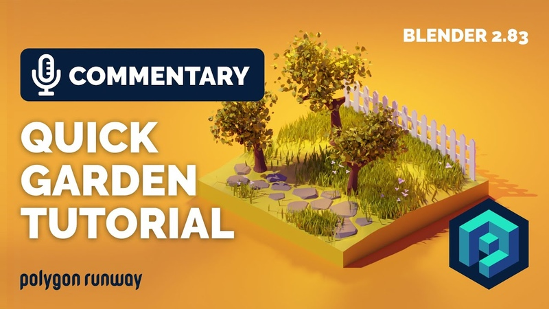 Quick Garden and Trees Tutorial in Blender 2.83