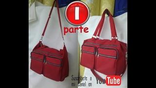 como confeccionar un bolso de viaje o pañalera facil y sencillo PARTE 1TRAVEL BAG OR DIAPER BAG 1