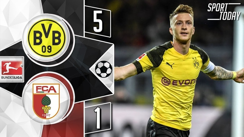 Borussia Dortmund- Augsburg 5:1 Goals Highlights HD Bundesliga Боруссия - Аугсбург 17.08.2019
