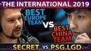 SECRET vs - BEST EU TEAM vs BEST CHINA TEAM - TI9 INTERNATIONAL 2019 DOTA 2